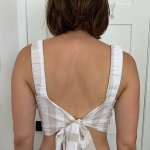Mendocino Striped Bow Back Top